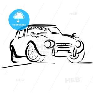 Old small sport Car Outline Sketch - Hebstreits