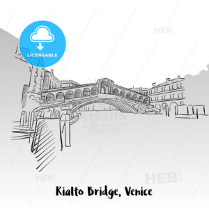 Rialto Bridge Greeting Card - Hebstreits