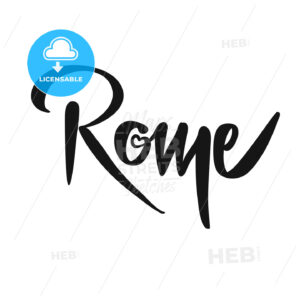 Rome Calligraphic Lettering - Hebstreits