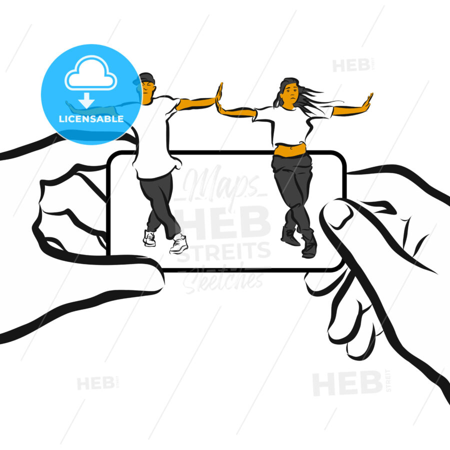 Training Choreography App Concept Design Sketch - Hebstreits