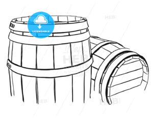 Two Vine Barrels Rough Sketched - Hebstreits