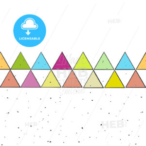 Vector Sketched Colored Triangles - Hebstreits