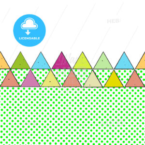 Vintage Colored Triangles - Hebstreits