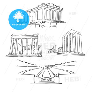 Athens Greece Famous Buildings - Hebstreits