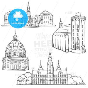 Copenhagen Denmark Famous Buildings - Hebstreits