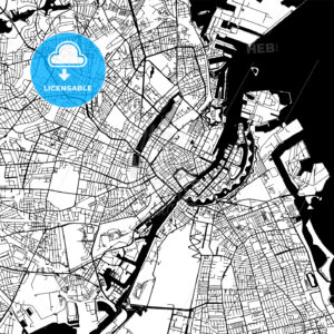 Copenhagen Denmark Vector Map - HEBSTREIT's Sketches