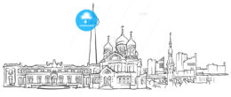 Tallinn Estonia Panorama Sketch