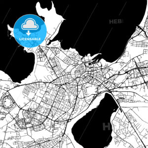 Tallinn Estonia Vector Map - HEBSTREIT's Sketches