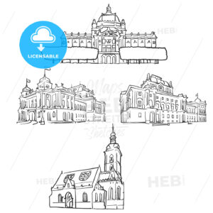 Zagreb Croatia Famous Buildings - Hebstreits