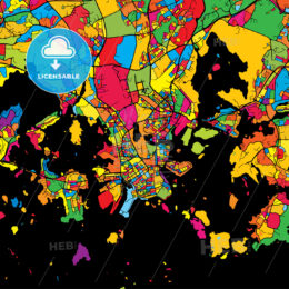 Helsinki Finland Colorful Map