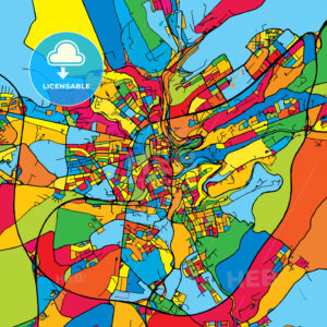Luxembourg Colorful Map - HEBSTREIT's Sketches