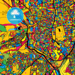 Madrid Spain Colorful Map - HEBSTREIT's Sketches