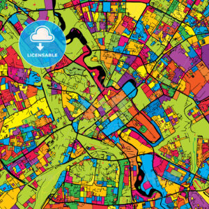 Minsk Belarus Colorful Map - HEBSTREIT's Sketches