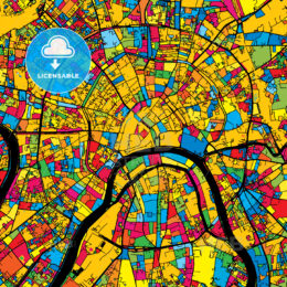 Moscow Russia Colorful Map