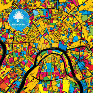 Moscow Russia Colorful Map - HEBSTREIT's Sketches