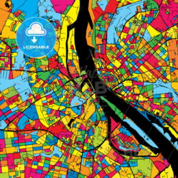 Riga Latvia Colorful Map