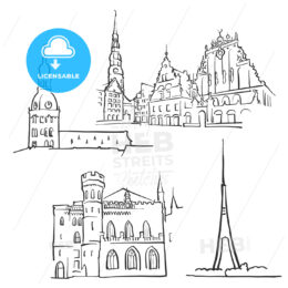 Riga Latvia Famous Buildings