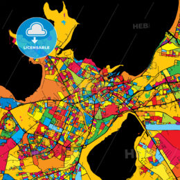 Tallinn Estonia Colorful Map