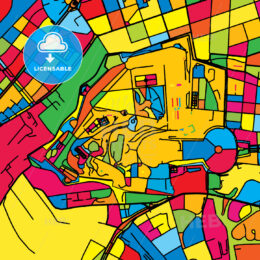 Vatican City, Holy See, Colorful Map