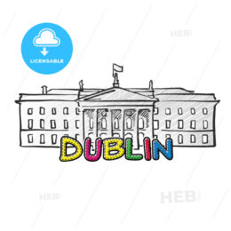 Dublin beautiful sketched icon