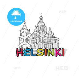 Helsinki beautiful sketched icon