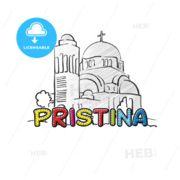 Pristina beautiful sketched icon