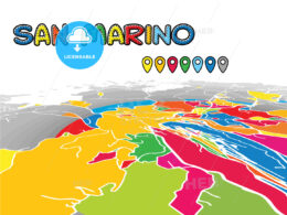 San Marino downtown map in perspective