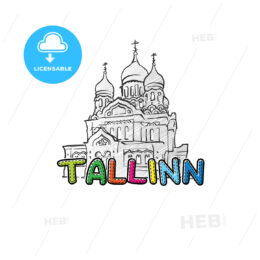 Tallinn beautiful sketched icon