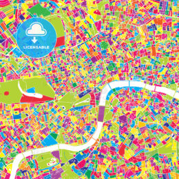 London, United Kingdom, colorful vector map