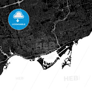 Toronto Canada Download PDF Map - HEBSTREITS