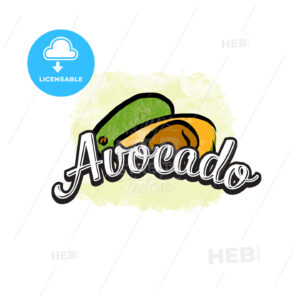 Avocado colorful label sign - HEBSTREITS