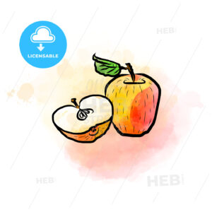 Colored drawing of apples - HEBSTREITS