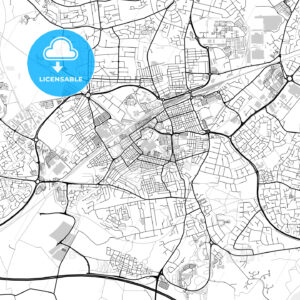 Inner city vector map of Swindon - HEBSTREITS