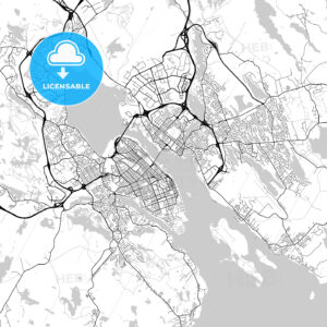 Halifax, Nova Scotia, Downtown City Map, Light - HEBSTREITS