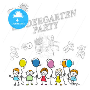 Kindergarten party marketing cover - HEBSTREITS