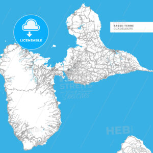 Map of Basse-Terre Island - HEBSTREITS