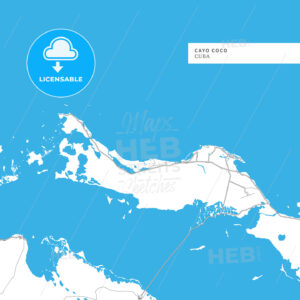 Map of Cayo Coco Island - HEBSTREITS