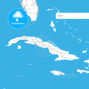 Map of Cuba Island - HEBSTREITS