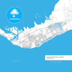 Map of Grand Bahama Island - HEBSTREITS