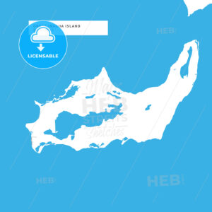 Map of Great Inagua Island - HEBSTREITS