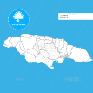Map of Jamaica Island - HEBSTREITS