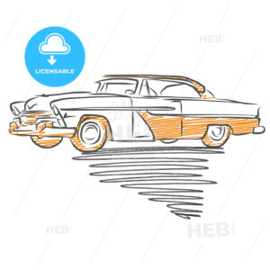 Old american car drawing - HEBSTREITS