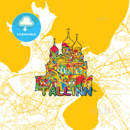 Tallinn Travel Art Map