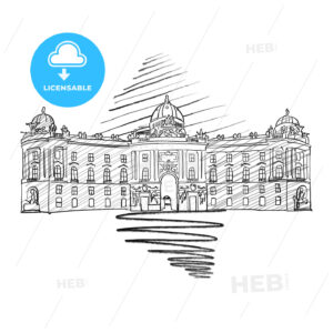Vienna Hofburg Famous European Architecture Drawing - HEBSTREITS