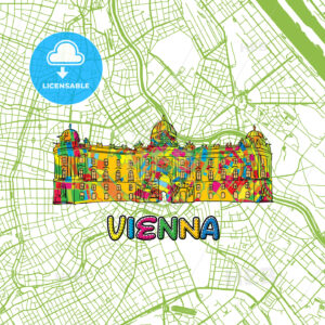 Vienna Travel Art Map - HEBSTREITS