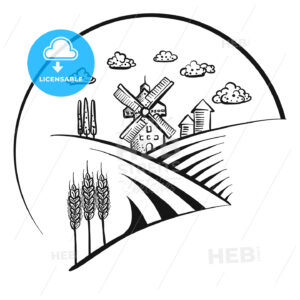 Windmill icon logo sketch - HEBSTREITS