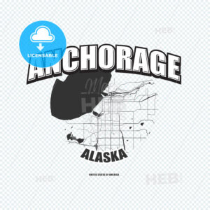 Anchorage, Alaska, logo artwork - HEBSTREITS
