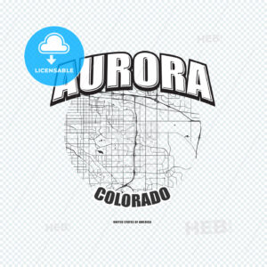 Aurora, Colorado, logo artwork - HEBSTREITS