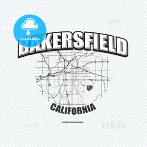 Bakersfield, California, logo artwork - HEBSTREITS