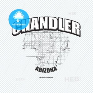 Chandler, Arizona, logo artwork - HEBSTREITS